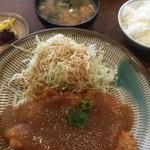 とんかつ山本 - みぞれとんかつ定食(¥800)