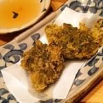 金魚すさび - 1512_金魚hanare_9.沖縄島もずくと伊和島あおさの天ぷら
