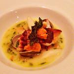 46138586 - 鮮魚、ウニ、夏野菜の地中海風スープ仕立て