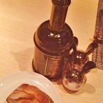 46138616 - パン、オリーブオイル、塩胡椒