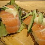 魚河岸料理 うおぎん - サラダサーモン