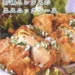若鶏とレタスのエスニックソース