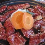 浜忠焼肉レストラン - ランチのカルビ&ロース
