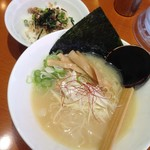 TORISOBA 雄 - 鶏そば+ミニ鶏コマ丼2016.1