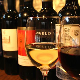 白ワイン&赤ワインも豊富♪