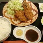 とんかつ・なべ 多津美 - アジフライ定食