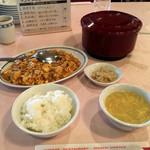 上尾四川飯店 - 「麻婆豆腐ランチセット」1080円
