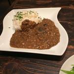 BARRIO - キーマカレー、サラダ付き600円税込。