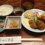 割烹 堂島 - 牡蠣フライ膳