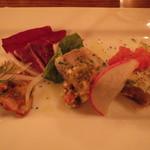 イル ポネンティーノ - 前菜三種盛り