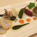 46148339 - 青森八戸十和田から~中村さんの手がけたベビーリーフと様々な海の食材と組み合わせて~