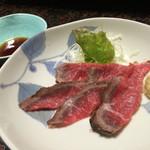 かね吉 - プレミアムオイル焼 松(¥11500)→近江牛ローストビーフ刺身風