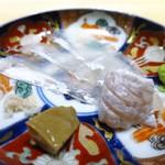 くろ﨑 - 宮城県石巻マコガレイ、エンガワ、肝