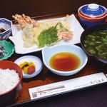 鯛丸海月 - 天ぷら定食