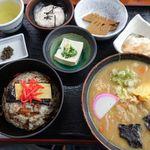 山賊旅路 - だご汁定食(山賊めし) 1250円