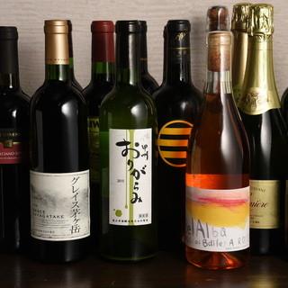常時、50種類のワインをご用意しております。