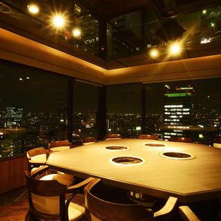 ★名古屋の素敵すぎる夜景が全席からご覧いただけます♪