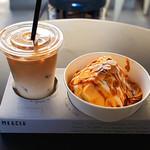 マーサーカフェ - 生キャラメルのシフォンケーキ、ドリンクset