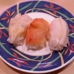 46161271 - 「貝三昧」です。左からつぶ貝、赤貝、石垣貝。