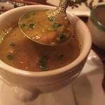 ミルミレ - ダルスープはカレー味の豆のスープ