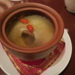 46163143 - フカヒレ姿の薬膳蒸しスープ
