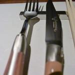創作料理 宿 - 私の好きなラギオールのカトラリだった