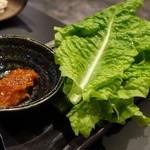 焼肉 大淀屋 - ☆チシャ菜はシャキシャキです(#^.^#)☆