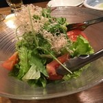46165892 - 森崎農園からの10種類野菜サラダ★                       ドレッシングもおいしい!