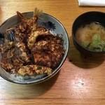辰巳 - 天丼と味噌汁
