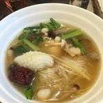 46173594 - 烏骨鶏スープ米麺ランチ