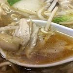 竜園 - サンマーメンの餡とスープ