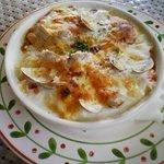 462592 - 野村「ほわいとファーム」季節野菜とあさりのドリア