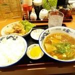 宝福ラーメン - 宝福セット800円が ラーパス使用で500円