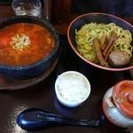 節系とんこつらぁ麺 おもと - トマトつけ麺:大盛りスペシャル