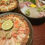 寿司吉 - 東京から車を飛ばし八時間弱 今シーズンは蟹が高騰し香箱丼も値上げしてましたが‼それに十分見合う至福を頂きました