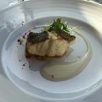 46202475 - 築地直送鮮魚のグリル あさいのジュと新潟県産こしいぶきを使ったソース…なんか良くわからない(゚_。)?
