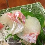 鈴徳 - 中トロの入った刺身3種盛り合せ
