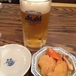 魚のうまい店 ひろちゃん - ビール&お通し