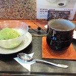 46213011 - 抹茶アイスとほうじ茶
