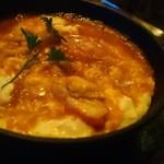 46215870 - 熱々でコクのあるソースがマッチ、タラバ蟹のオムレツソースアメリケーヌ1,296円