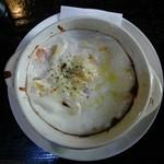 茶里庵 - セットのえびとホタテのグラタン