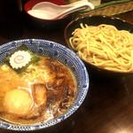 三竹寿 - 辛えび濃厚つけ麺+味付玉子