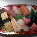 泊いゆまち - にぎり寿司500円・3個で1200円税別
