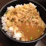 かれー麺 実之和 - 2016.1.6  かれー麺のカレースープをかけたライス☆