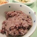 木の花ガルテン - せっかくなんで御飯は白米ではなく雑穀米を選んでみました