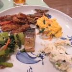 木の花ガルテン - 最初のお惣菜は野菜中心の和風の食材を選んでみました。