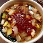 46221851 - 辛っつけ麺のつけ汁