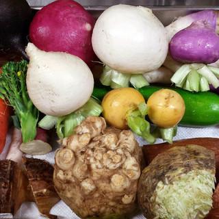 静岡県三島の農園から取り寄せる有機野菜