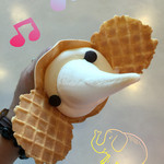 象の鼻カフェ - ゾウノハナソフトクリーム 400円(税込)