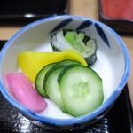 鰻専門店 愛川 - お新香